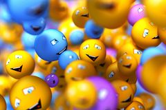 Smily faces. Social network concept Royalty Free Stock Photos