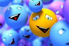 Smily faces. Social network concept Stock Photography