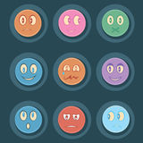 Smily icon set Stock Photo