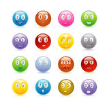 Smily icons set Stock Photo