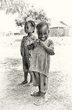 Smily little boy from Ghana and his sister Royalty Free Stock Photography