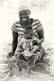 Smily mother and her son in Ghana Stock Photos