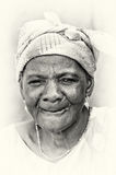 Smily old lady from Ghana Stock Photography