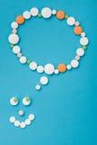 Smilyface made of pills Stock Photo