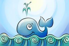 Smims de baleine en mer Photographie stock