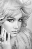 Smink och hår royaltyfria bilder