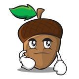 Smirking acorn cartoon character style Royalty Free Stock Photos