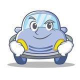 Smirking cute car character cartoon Royalty Free Stock Images