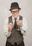 Smirking Drunk Man Royalty Free Stock Image
