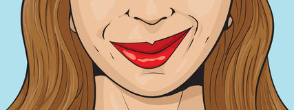 Smirking dziewczyna Zdjęcie Stock