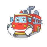 Smirking fire truck character cartoon. Vector illustration Royalty Free Stock Photos