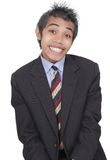 Smirking funny businessman Stock Photo
