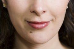 Smirking lips Royalty Free Stock Images