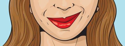 Smirking Mädchen Stockfoto