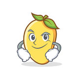 Smirking mango character cartoon mascot Stock Image