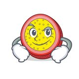 Smirking passion fruit character cartoon. Vector illustration Stock Photography