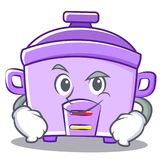 Smirking rice cooker character cartoon Royalty Free Stock Photos