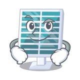Smirking Solar-penels in der Karikaturform lizenzfreie abbildung