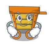 Smirking wooden trolley character cartoon. Vector illustration vector illustration