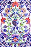 SMIRNE, TURCHIA - 31 LUGLIO: Mattonelle artistiche turche della parete a Fatih Mosque il 31 luglio 2014 a Smirne il Tu fatto a ma Fotografia Stock
