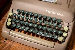 Smith Corona Antique Retro Typewriter Stock Photo