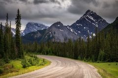 Smith Dorrien Trail above Canmore Alberta, in Kananaskis Country stock photos