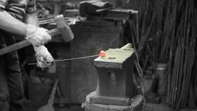 Smith forging red iron stock video