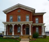 Smith House. This is a Summer picture of the Adam and Mary Smith House located in Sun Prairie, Wisconsin.  The house built in 1872 is an example of Italianate Stock Images