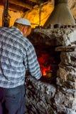 Smith making nails, Lahich, Azerbaijan stock image
