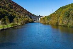 Free Smith Mountain Dam From Leesville Lake Stock Photo - 163485780