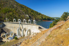 Smith Mountain Dam, Penhook, VA, USA. Smith Mountain Dam is a 636-megawatt storage hydroelectric facility located on Smith Mountain Lake, Penhook, Virginia, USA stock photos