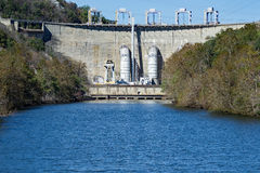 Smith Mountain Dam, Penhook, VA, USA. Smith Mountain Dam is a 636-megawatt storage hydroelectric facility located on Smith Mountain Lake, Penhook, Virginia, USA royalty free stock photo