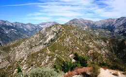 Smith Mountain Summit. View from the summit of Smith Mountain, Angeles National Forest, California Stock Image