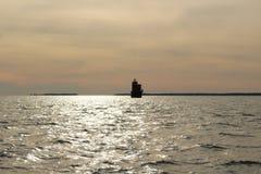 Smith Point Light en la bahía de Chesapeake Imagen de archivo libre de regalías