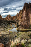 Smith Rock, courbure, Orégon, Etats-Unis Image stock