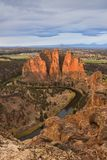 Smith Rock and Crooked River at sunrise Stock Images