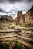Smith Rock, curva, Oregon, los E.E.U.U. Foto de archivo libre de regalías