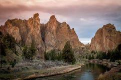 Smith Rock en Oregon Fotografía de archivo