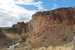 Smith Rock. October Day background Royalty Free Stock Photo
