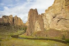 Smith Rock State Park. Near Bend, Oregon is a world class destination for rock climbing Royalty Free Stock Images