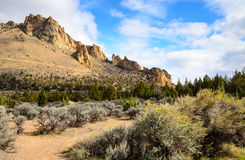 Smith Rock State Park stock afbeelding