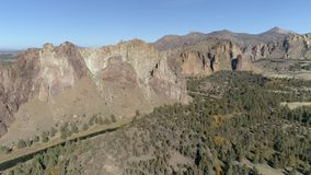 Smith Rock State Park Aerial video d archivio