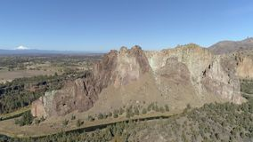 Smith Rock State Park Aerial stock footage