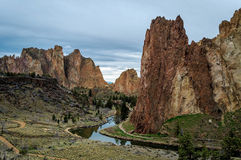Smith Rock State Park. In Central Oregon Stock Image