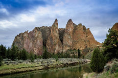 Smith Rock. State Park in Central Oregon. A popular rock climbing area royalty free stock photography
