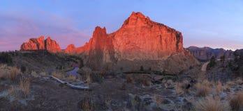 Smith Rock State Park panorama Stock Photo