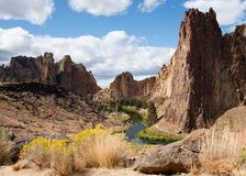 Smith Rock State Park in the Spring Royalty Free Stock Images