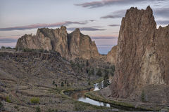 Smith Rock State Park before sunrise Royalty Free Stock Photos