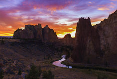 Smith Rock at Sunset Royalty Free Stock Image