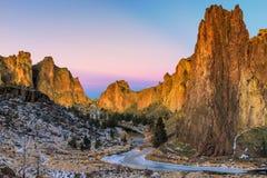 Smith Rock-zonsopgang Stock Fotografie